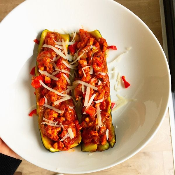Turkey Stuffed Courgette Boats