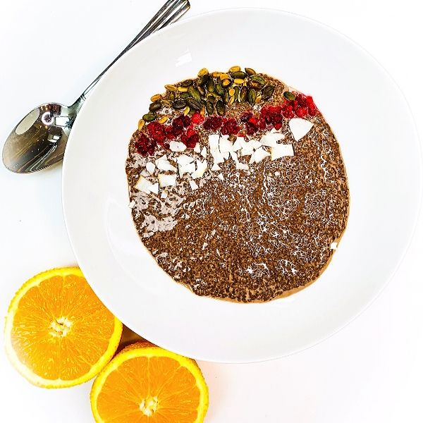Chocolate Orange Chia Seed Pudding