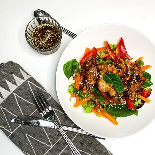 Sticky Soy Chicken Salad