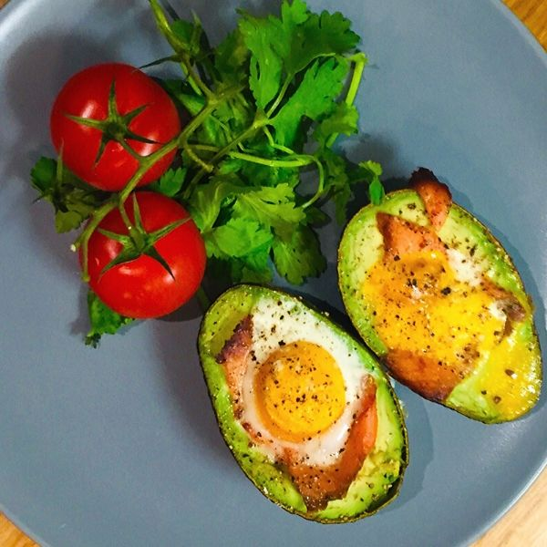 Smoked Salmon Baked Egg Avocado