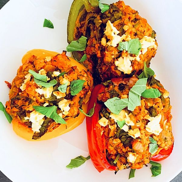 Bulgar Wheat Stuffed Peppers