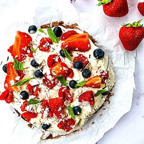 Summer Fruit Brownie Cake