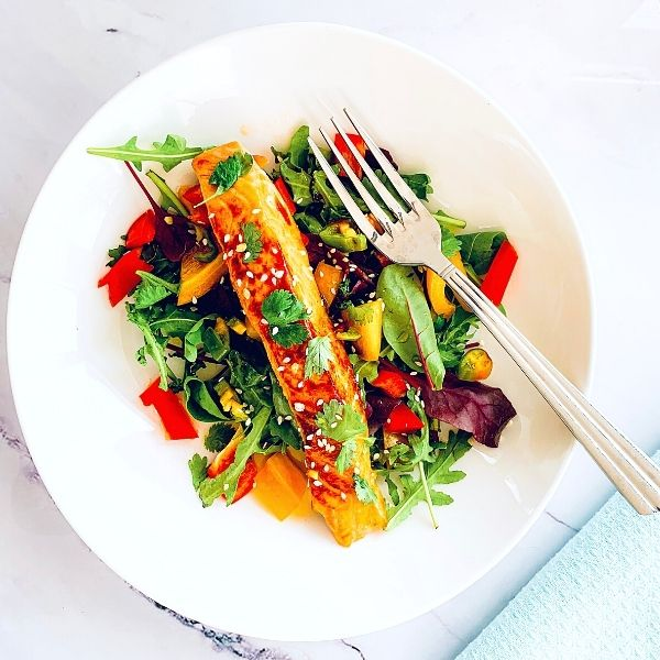 Sweet Chilli Salmon With Lime & Coriander Salad