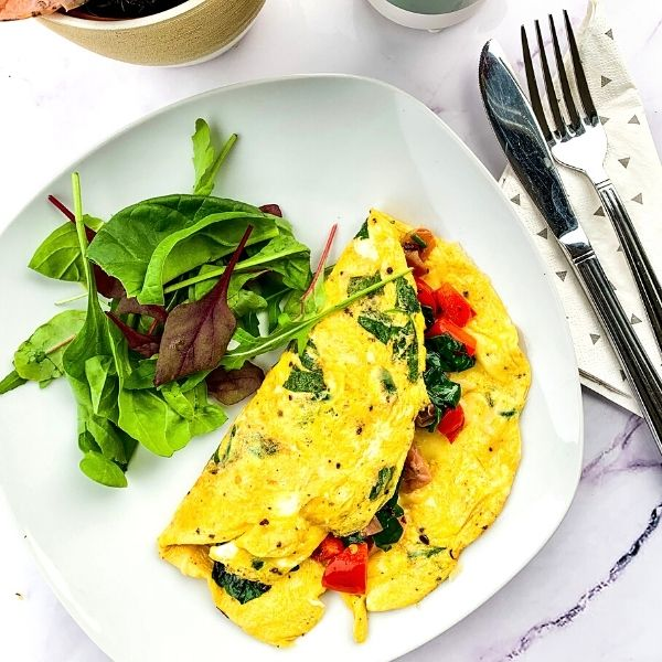 Spinach & Bacon Omelette