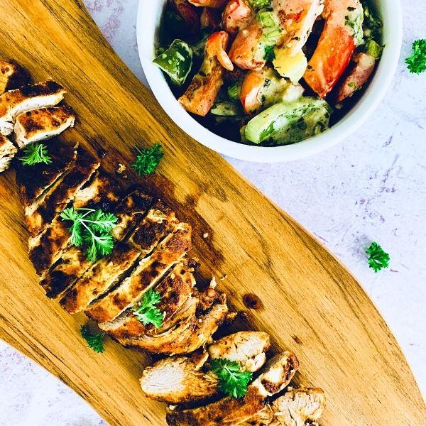 Spanish Chicken with Creamy Herb Vegetables