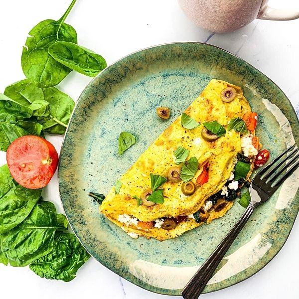 Low FODMAP Mediterranean Omelette