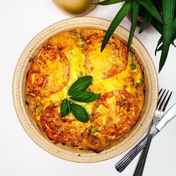 Low FODMAP Chorizo & Spinach Frittata