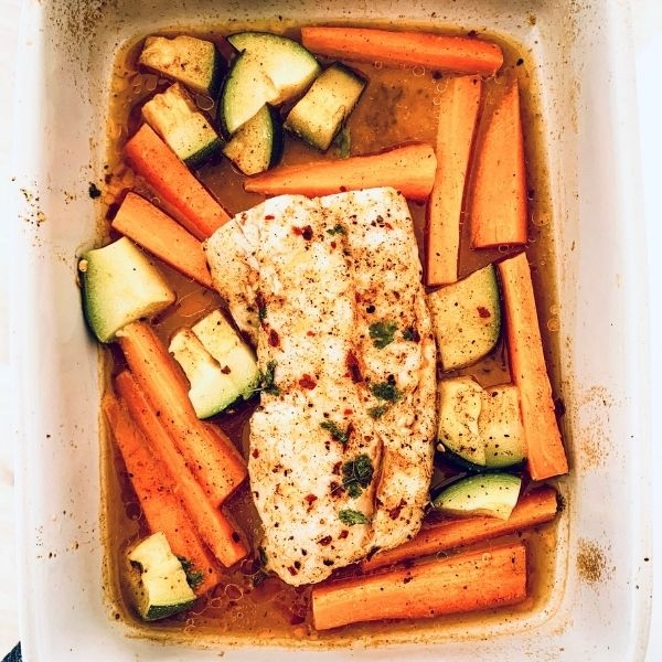 One Pan Chilli & Lime Cod