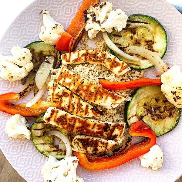 Grilled Halloumi & Couscous Salad